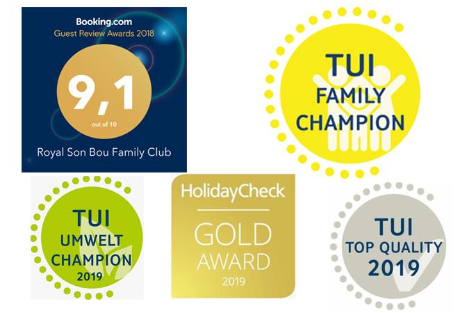 El Hotel Royal Son Bou estrena 2019 con cinco premios