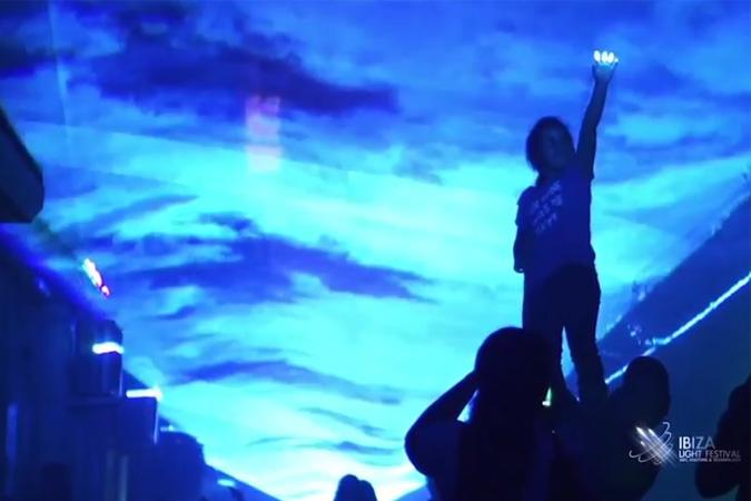 El gran espectáculo de la luz, en Ibiza en el Puente del Pilar