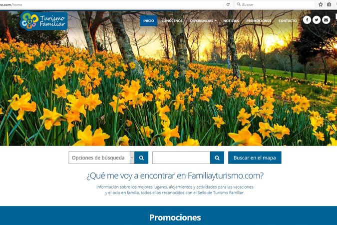 Renovamos y actualizamos la web de Familia y Turismo
