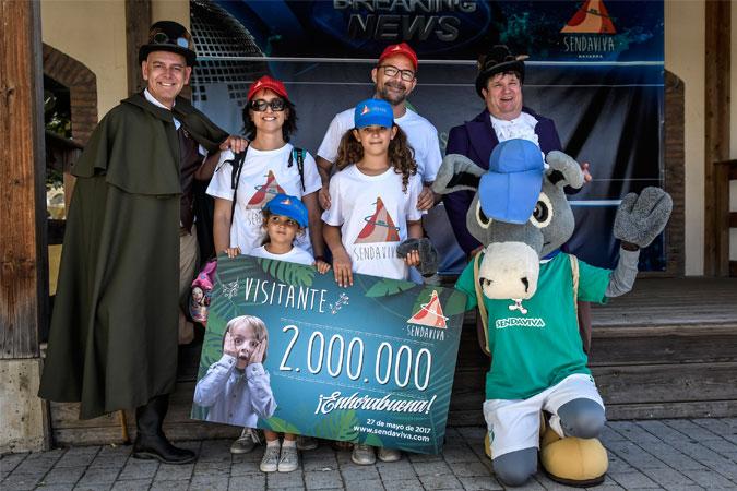 Sendaviva recibe a su visitante número 2 millones
