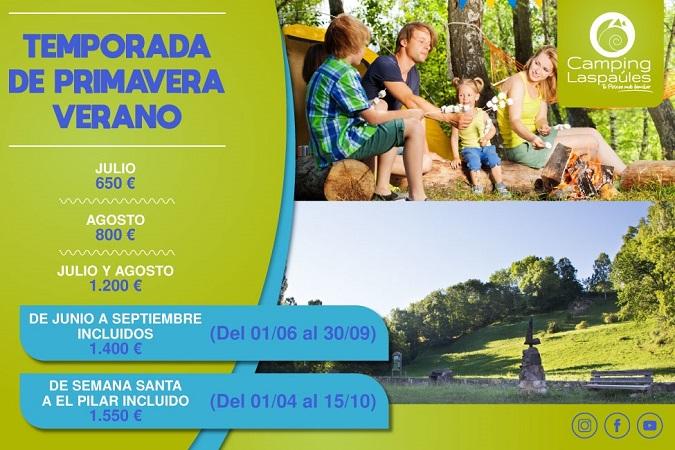 Ofertas de verano en Camping Laspaúles